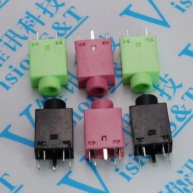 10pcs 3.5mm Female Audio Connector 5 Pin DIP Headphone Jack Socket PJ-358  PJ358