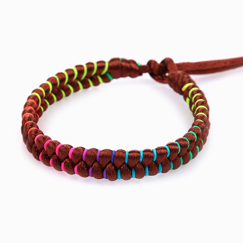 Fashion brazilian bracelet multicolor braided boho chain bohemian tassel handmade sport chain friendship bracelets neon unisex 3