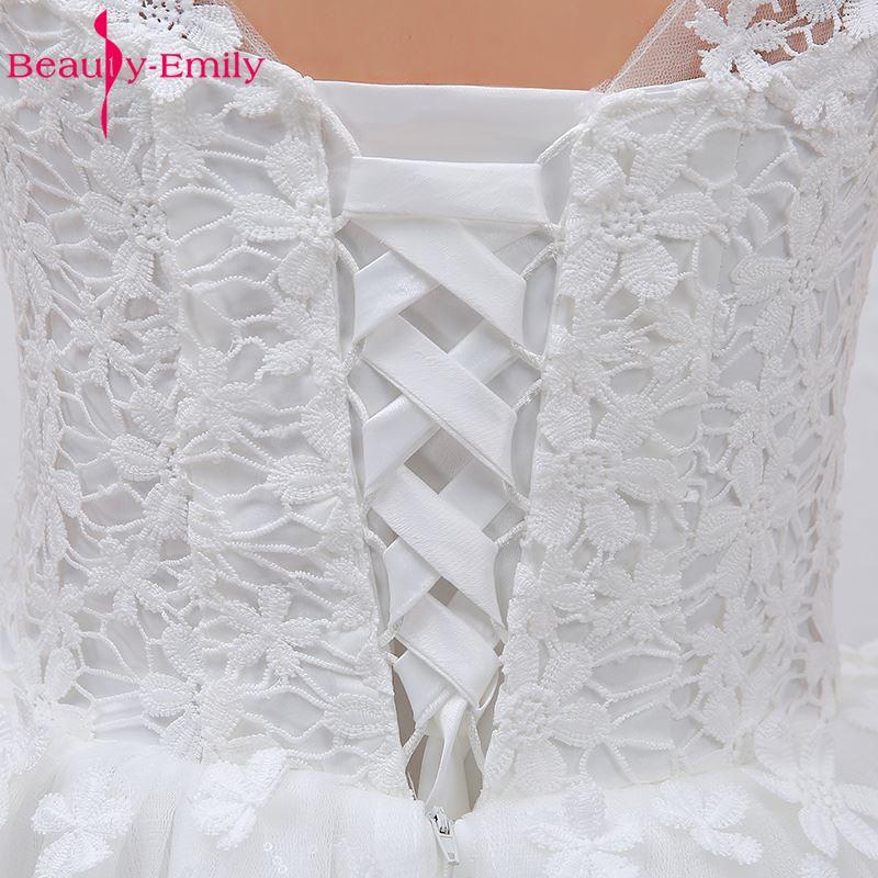Ομορφιά-Emily Plus Μέγεθος Λευκό Φτηνές - Γαμήλια φορέματα - Φωτογραφία 6