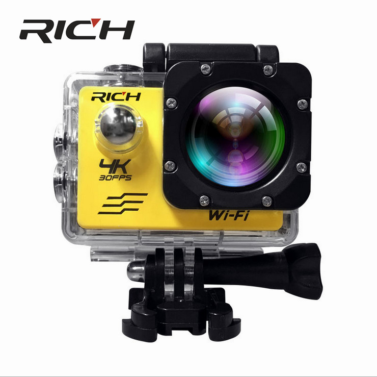RICHE J550 Sport Caméras 4 K 2.7 K 1080 P Action Caméra 16MP WiFi Sport Caméras 30 M Étanche 2.0LCD Full HD DVR 170