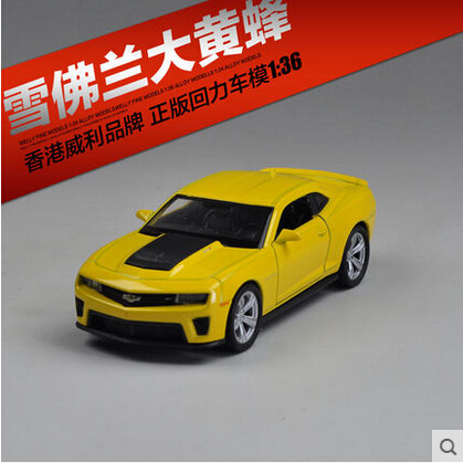 Chevrolet Hornet welly 1 36 Original toy car pull back alloy car models yellow Supercar Furious