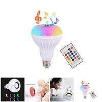 110 240V E27 RGB Wireless Bluetooth Speaker Bulb Music Playing Dimmable LED Music Light Lamp Bulb