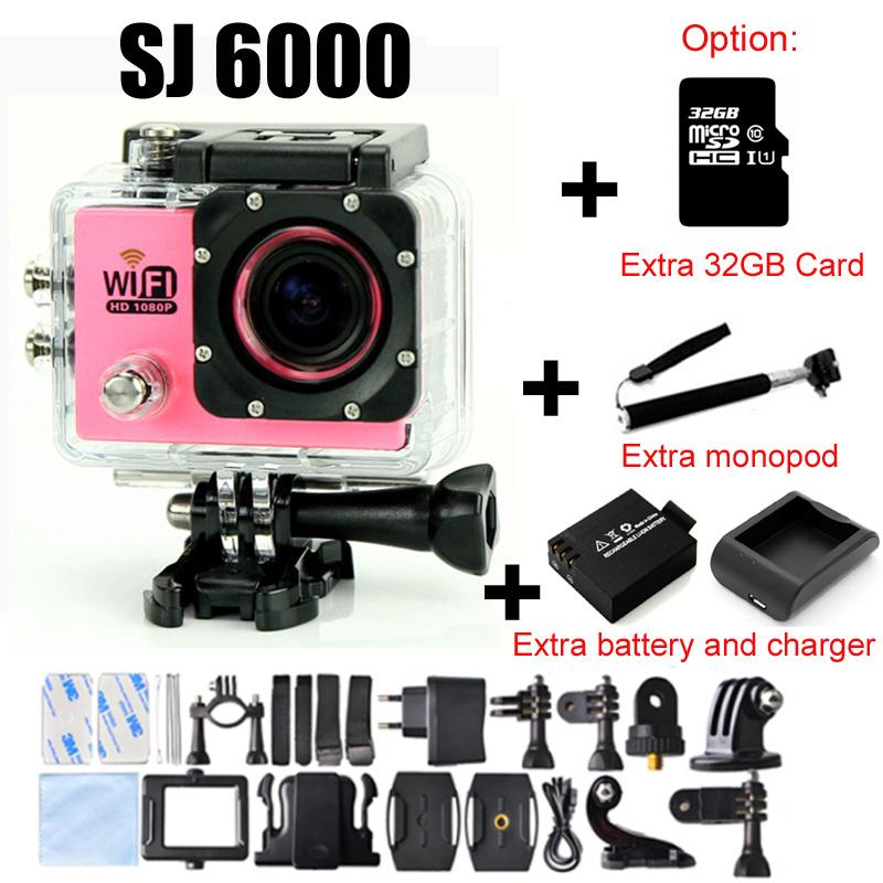Prix pour Wifi Action Camera Full HD 1080 p Soutien 32g TF Carte SJ Cam DV Plongée 30 M Aller Étanche Mini Pro Camaras