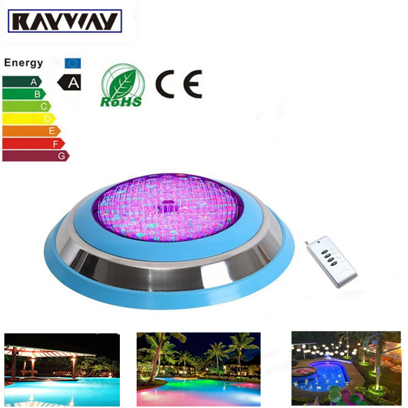 RAYWAY LED Swimming pool light 54W RGB AC DC 12V Safe IP68 LED underwater Lamp Outdoor