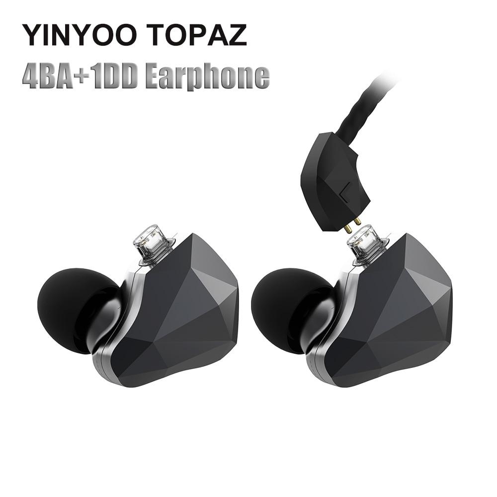 Yinyoo TopAZ 4BA + 1DD 10MM Bio Diafragma Aangepaste Legering Dynamische Driver Hybrid Oortelefoon Oordopjes Voor AS10 ZS10pro CCA C10 C16-in Telefoonoordopjes en hoofdtelefoons van Consumentenelektronica op  Groep 1
