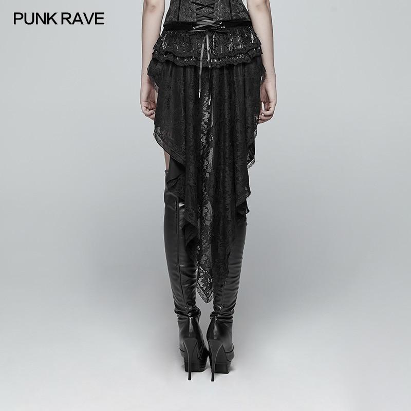 Punk Rave Gothic Fashion Novelty Swallow Tail Lacing Lace Victorian Sexy Palace Women Shorts Skirt Visual Kei WK354 - 4