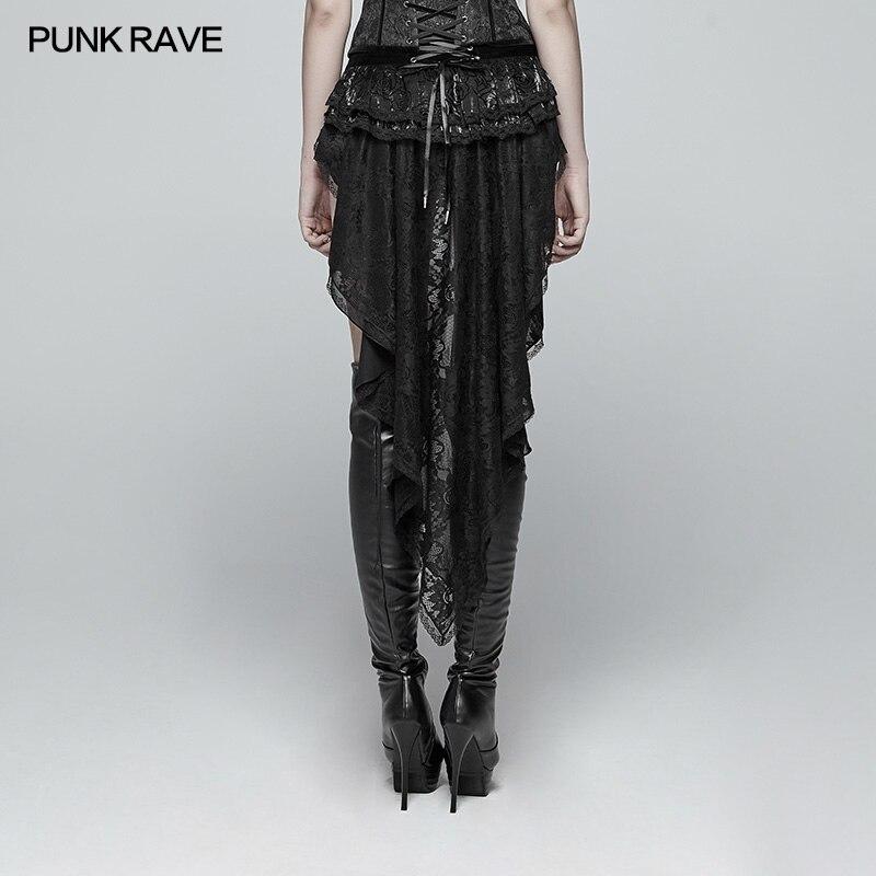 Punk Rave Gothic Mode Neuheit Swallow Tail Schnürung Spitze Viktorianischen Sexy Palace Frauen Shorts Rock Visuelle Kei WK354 - 4
