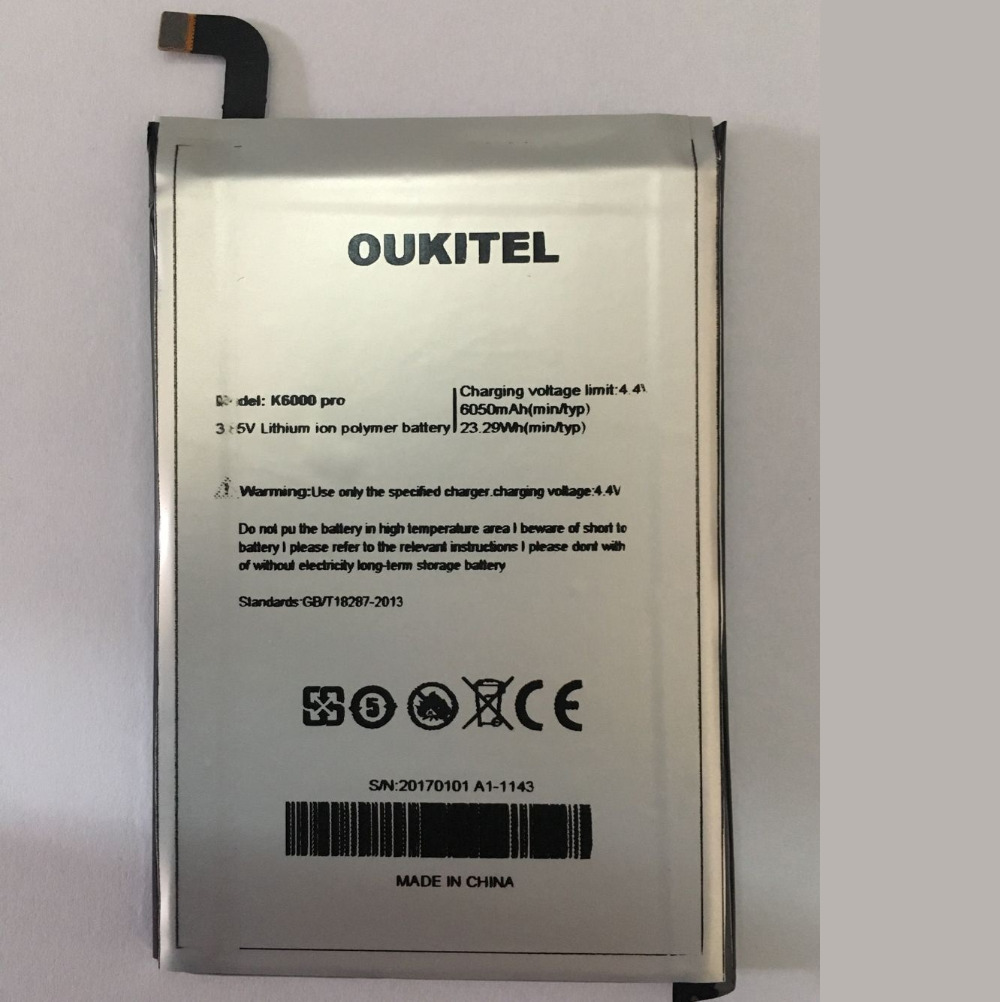 Oukitel K6000 Pro Battery Replacement Original Large Capacity 6000mAh Back Up Batteries For Oukitel K6000 Pro In stockOukitel K6000 Pro Battery Replacement Original Large Capacity 6000mAh Back Up Batteries For Oukitel K6000 Pro In stock