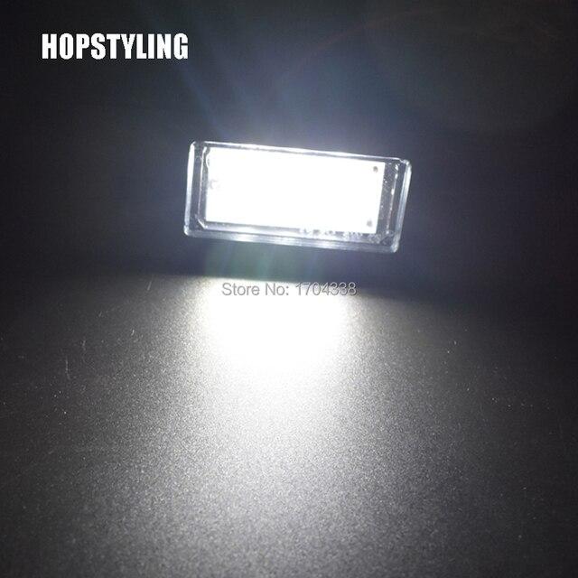 Hopstyling супер яркий 18SMD 3528 2 шт. для Nissan QASHQAI марта PATHFINDER R51 JUKE PRIMERA P12 светодио дный Подсветка регистрационного номера