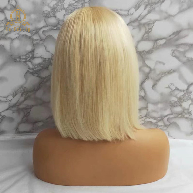 HTB1Ku2zPmzqK1RjSZFpq6ykSXXa7 613 Short Bob Wigs 1B 613 Ombre Honey Remy Pre Plucked Straight 13x6 Blonde Lace Front Human Hair Wig for Women Natural Black