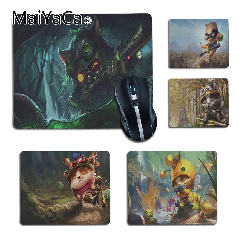 MaiYaCa Non Slip PC League Of Legends Teemo  Customized Laptop Gaming Small Mouse Pad Gaming Player Desk Laptop Rubber Mouse Mat