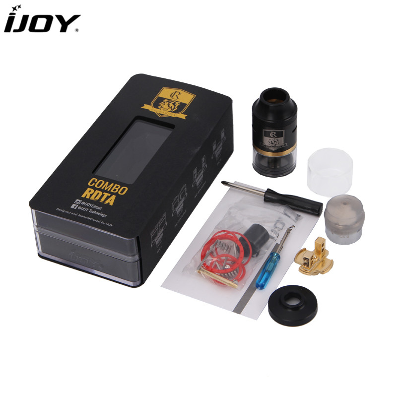 Original iJoy Combo RDTA Atomizer Tank 6.5ML With Side Filling Design Support Electronic Cigarette Mod Like tesla Mod squonk Box orginal ijoy maxo zenith box mod 300w no 18650 battery for ijoy rdta 5 tank atomizer electronic cigarette mod 510