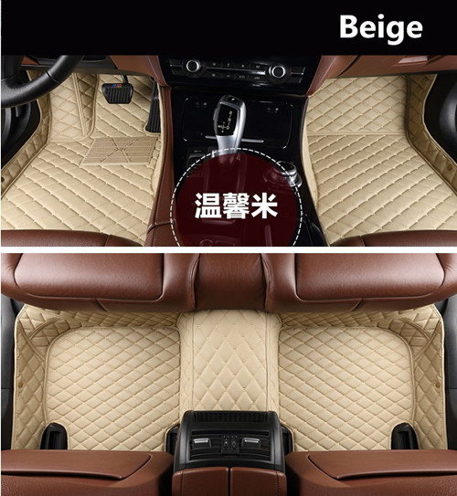For TOYOTA Land Cruiser PRADO 150 2018 Auto Floor Mats Foot Step Mat High Quality Brand New Embroidery Leather