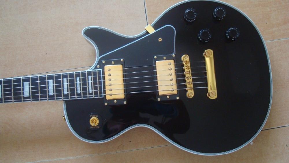 new lp guitars black custom guitar one piece neck mahogany wood grover tuner maple top golden. Black Bedroom Furniture Sets. Home Design Ideas