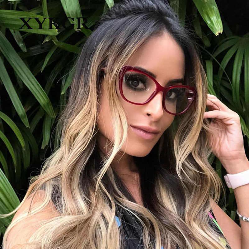 XYKGR Модные женские оптические компьютерные очки оправа леопардовая трендовая