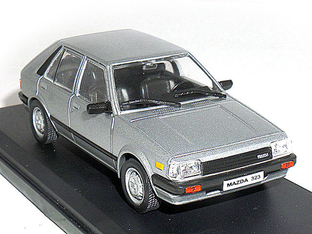 Ixo 1 43 Scale Die Cast Model Silver Car Mazda 323 1983 In