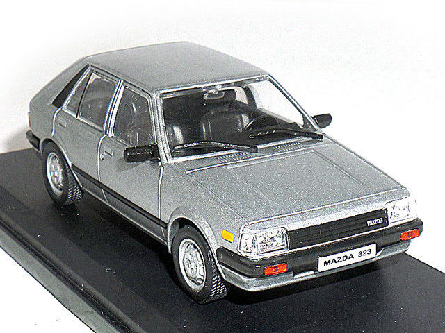 Ixo 1/43 масштаб пазлы-литой серебро модель автомобиля - Mazda 323 ( 1983 )