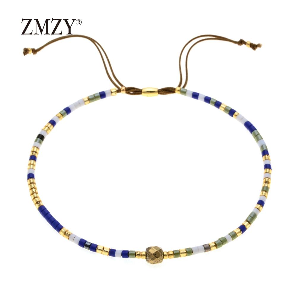 ZMZY Miyuki Delica, бисер, женские браслеты, ювелирные изделия дружбы, модные, сделай сам, Bijoux Femme, простые браслеты, Прямая поставка - Окраска металла: QSSL003-15