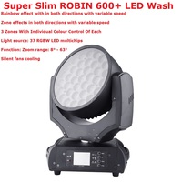 Super Slim ROBIN 600+ LED Wash 37X15W RGBW 4IN1 Professional Stage Moving Head Wash Lights 8 63 Degree Zoom DHL Shippping
