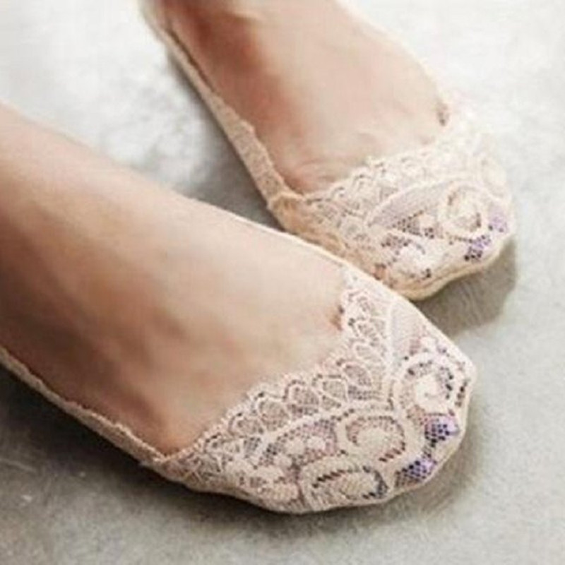 1 Pair 2017 Women Girl Ladys Fashion Charming Sexy Cotton <font><b>Lace</b></font> Antiskid Invisible Liner <font><b>No</b></font> <font><b>Show</b></font> Peds <font><b>Nude</b></font> Cool