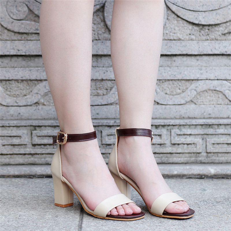 2018 Summer Women Sandals Open Toe Flip Flops Womens Sandles Thick Heel Women Shoes Korean Style Gladiator Shoes Women Sandals ...