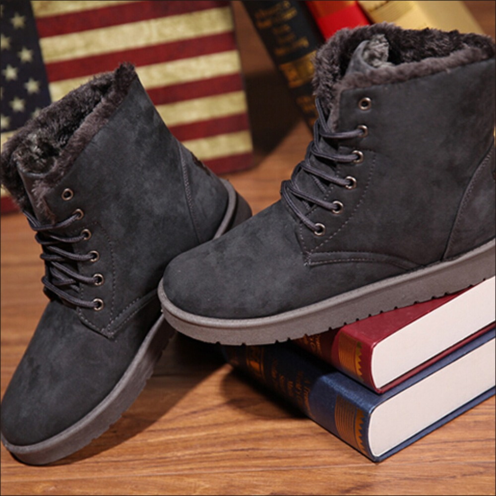 Aliexpress.com : Buy Men Winter Snow Boots Warm Platform Boots For ...