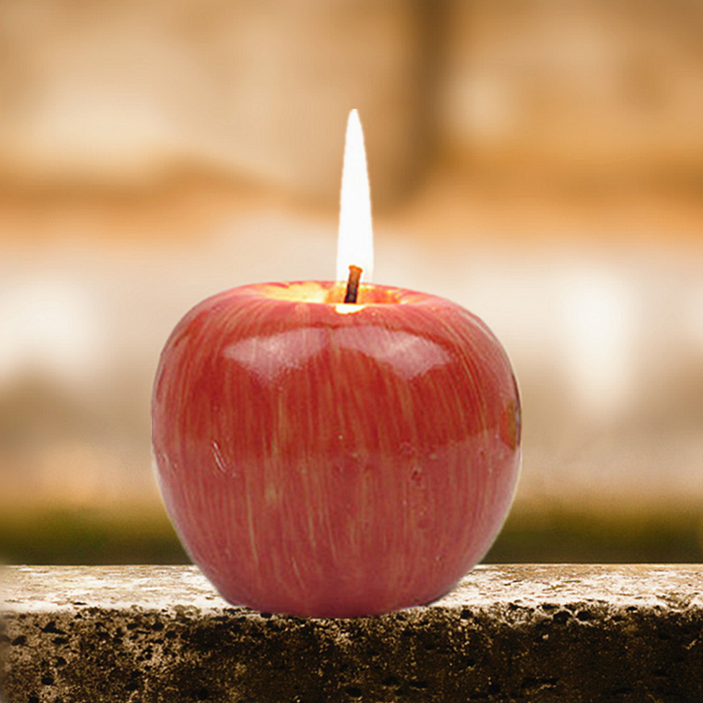 Apple decorations wedding - 1pc Simulation Apple Fruit Craft Candle Christmas Eve Gift Wedding Supplies Party Favors Festival Home Decorations