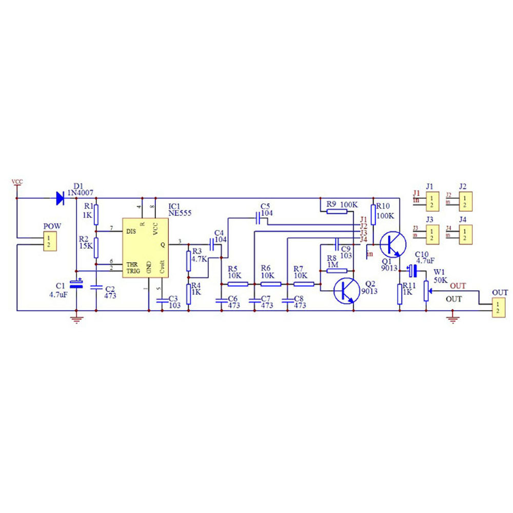 Cnikesin Ne555 Multiple Waveform Generator Sine Wave Triangle Accurate Circuit Schematic Diagram Square Sawtooth Diy Electronic Production Kit In Integrated Circuits From