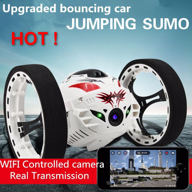 Amazing 1 10 RC Car With WIFI Camera PHONE Remote Control Upgraded Bounce Stunt car Robot