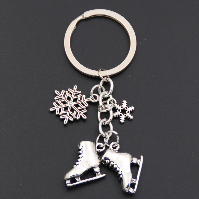 15Pcs Antique Silver Ice Skate Skates Charms Pendants Jewelry Findings 20*18mm