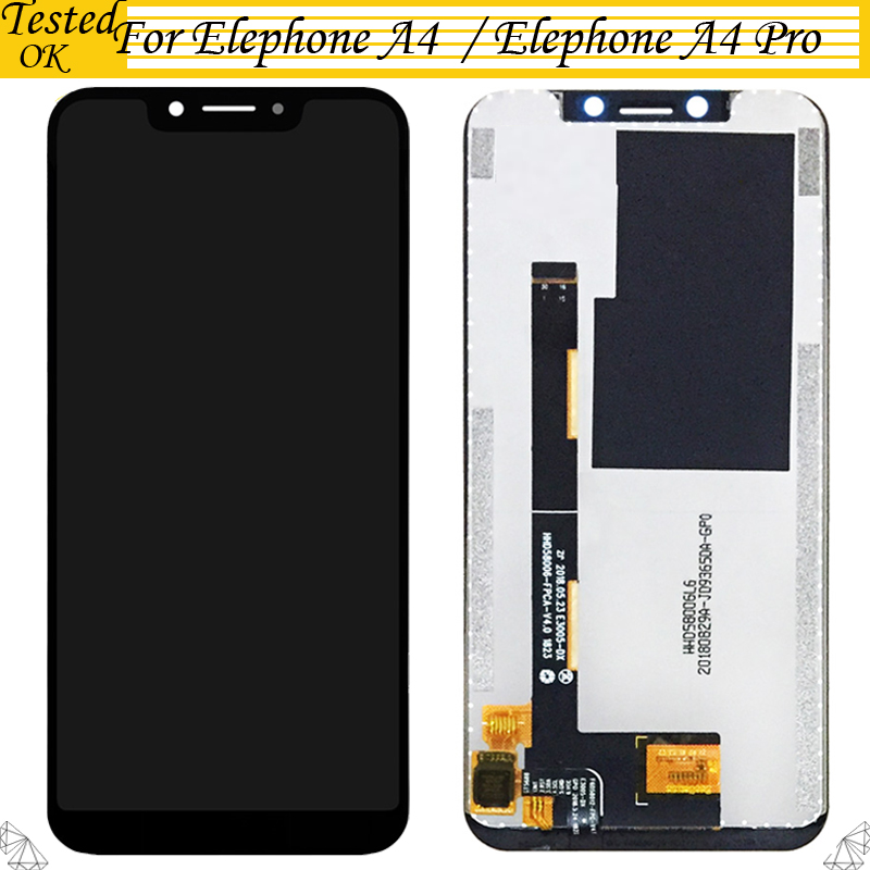 5.85'' Black Color For Elephone A4 / A4 Pro LCD Display+Touch Screen Digitizer Assembly Replacement Parts For Elephone A4 Pro