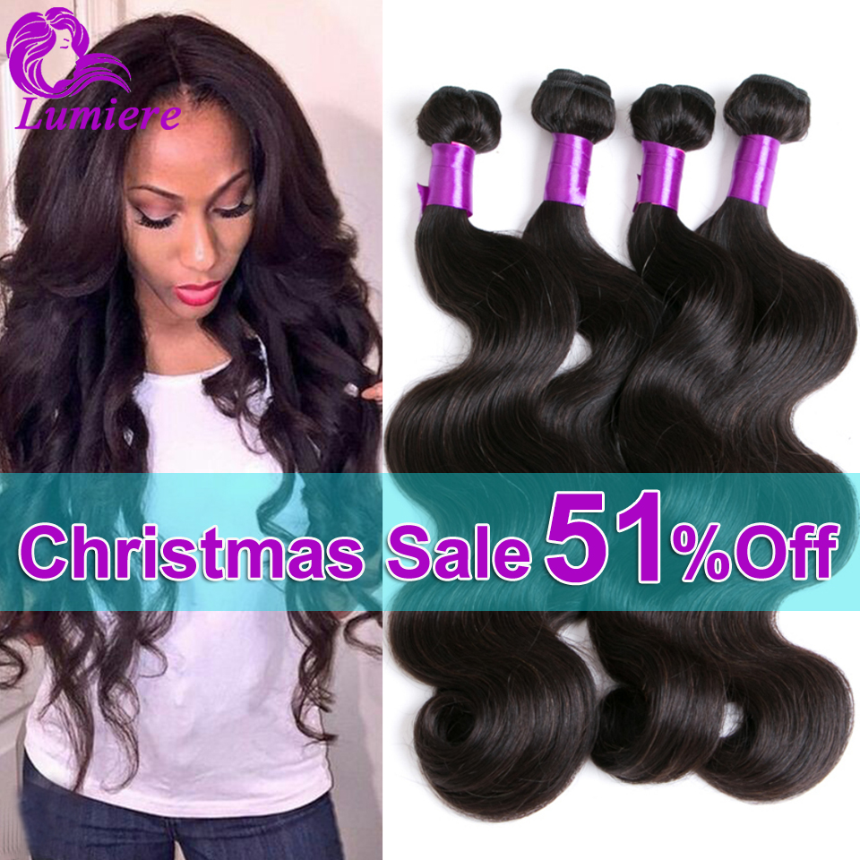 Peruvian Virgin Hair Body Wave 4 Bundles Lumiere Hair Virgin Peruvian Human Hair Extensions 7A Peruvian Body Wave Virgin Hair