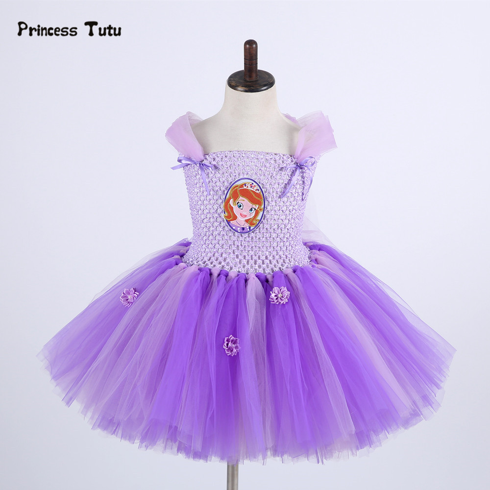 Children Girls Princess Sofia Dress Kids Tutu Dress Girl Birthday Party Performance Tulle Dress Halloween Cosplay Sofia Costume fancy girl mermai ariel dress pink princess tutu dress baby girl birthday party tulle dresses kids cosplay halloween costume