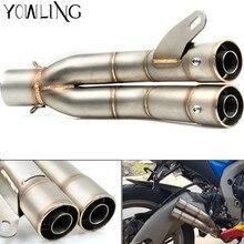 51 мм универсальный изменения мотоцикл Выхлопная труба скутера глушитель выхлопных газов для Yamaha MT09 Tracer/FJ09 MT09/FZ09 Tmax 500 T-max 530
