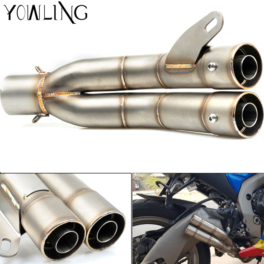 51MM Universal Modified Motorcycle Scooter Exhaust Pipe Muffler For Yamaha MT09 Tracer/FJ09 MT09/FZ09 Tmax 500 T-max 530 51mm universal modified motorcycle scooter exhaust pipe muffler for yamaha mt09 mt 09 03 01 tmax 500 530 r1 r3 r6 fz6 fjr v max