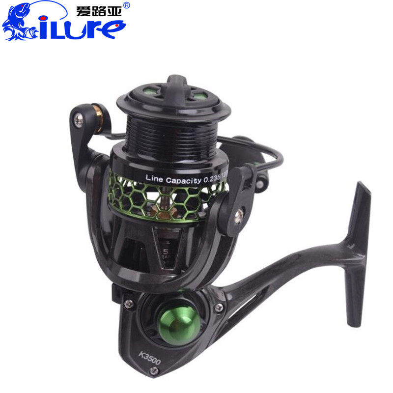 ilure Spinning Fishing Reel 5.2:1/10BB Reels Molinete Para Pesca Fishing Tackle Carrete De Pesca Steering-wheel Carp Reel Feeder 12 1bb 6 3 1 left right hand casting fishing reel cnc fishing reels carp bait baitcasting carretilha de pesca molinete shimano