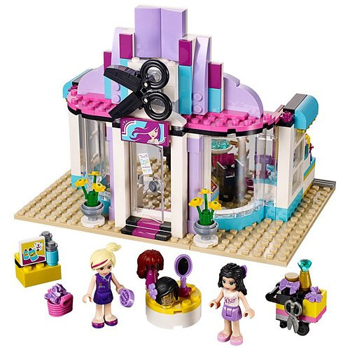 WAZ Compatible Legoe Friends 41093 Bela 10539 341pcs Heartlake Hair Salon Figure building blocks Bricks toys for children lego парикмахерская 41093