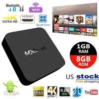 AKASO MXQ 4K Android 7.1 TV Box RK3229 1GB+8GB Smart TV BOX Quad Core Media Player Wifi MXQ 4K Set Top Android Box high quality