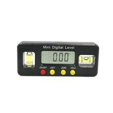 Rapporteur d'angle numérique, boîte de niveau électronique, inclinomètre numérique de 360 degrés outil de mesure d'angle avec aimants, Portable