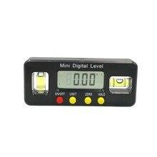 Kątomierz cyfrowy kątomierz elektroniczny poziom box 360 stopni inklinometr cyfrowy kąt narzędzia pomiarowe z magnesami przenośne