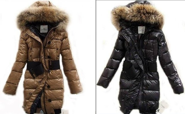 Women HOODED FUR 90% duck Winter Long Down Parka Glossy Black Thick coat jacket