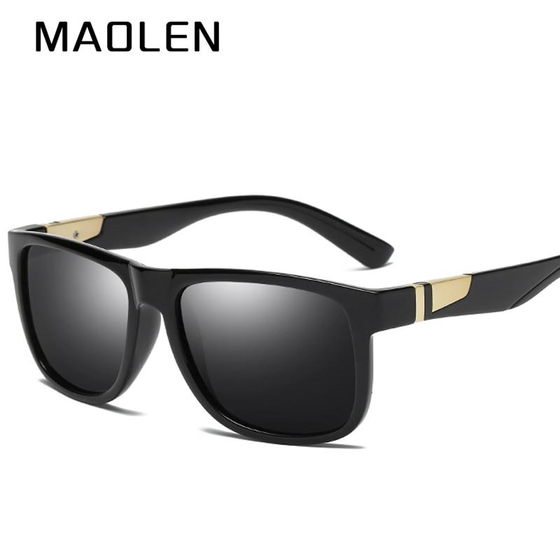MAOLEN Polarizada óculos de Sol Retros dos homens Macho Preto Óculos De  Proteção Óculos De Sol Para Homens Marca de Moda de Luxo Espelho Tons  Frescos Oculos 847d748db6