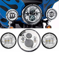 "7 ""Pulgadas Harley Daymaker LED Headlight + 2x 4-1/2"" Luz de Niebla de las Luces de Cruce para Harley Davidson motocicleta"
