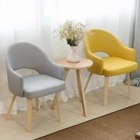 Современный нордический стиль кофе стул с обеденный стул с подлокотниками деревянный диван 100% хлопок стул для гостиной. деревянный мебель