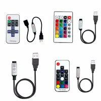 5 12 24 V USB Lichter Led Streifen RGB USB Fernbedienung 5V 12V 24 V Volt USB LED Streifen Fernbedienung 3 11 17 24 Key Wireless-in RGB-Controller aus Licht & Beleuchtung bei