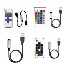5V USB Lights Led Strip RGB USB Remote Controller 5Volt USB LED Strip Remote Controller 3 11 17 24 Key Wireless