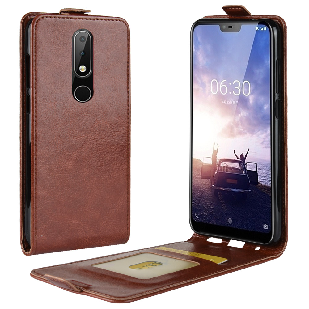 Nokia 5.1 Plus Case 5.86 Wallet PU Leather Back Cover Phone Case For Nokia 5.1 Plus TA-1109 Nokia5.1Plus Nokia 5.1Plus Flip Case