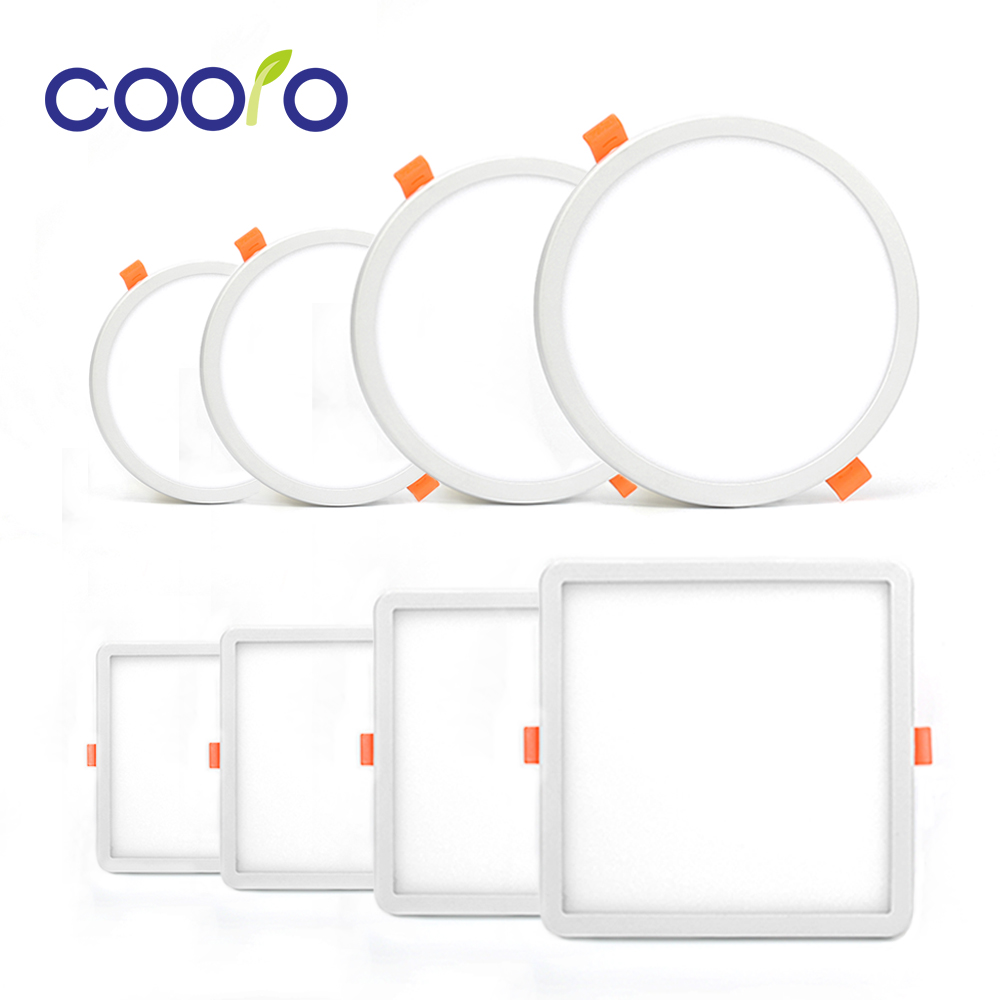 LED פנל אור אולטרה דק תקרה שקוע Downlight 6 w 8 w 15 w 20 w עגול/מרובע LED ספוט אור AC220V 110 v