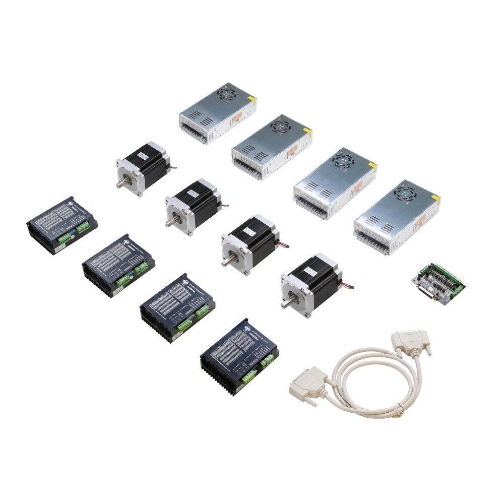 Livre o Navio para os EUA/UE 4 Nema34 1232 ozin 5.6A Axis Stepper Motor & Driver fonte de alimentação Controlador CNC kit Router Gravura Moinho
