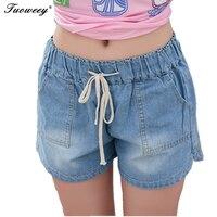 7XL новая весна 2019 Мода Шорты женские джинсовые женские Шорты одноцветное синие короткие джинсы отверстие Стиль Большие размеры для женщин Ш...